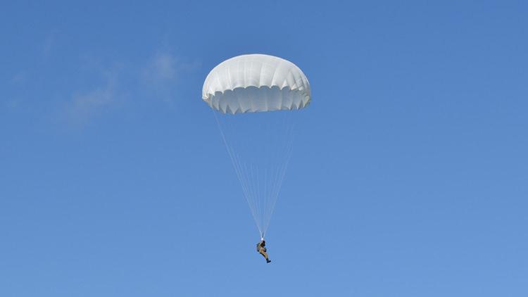 Круглый парашют